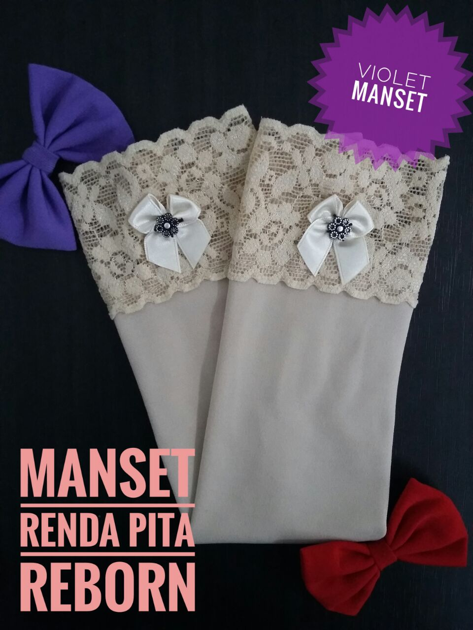 Manset Renda Pita Reborn Cream
